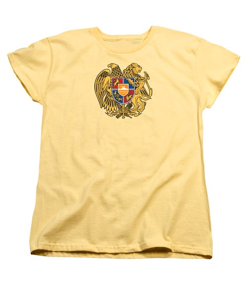 Women's T-Shirt (Standard Cut) featuring the drawing Armenia Coat Of Arms by Movie Poster Prints