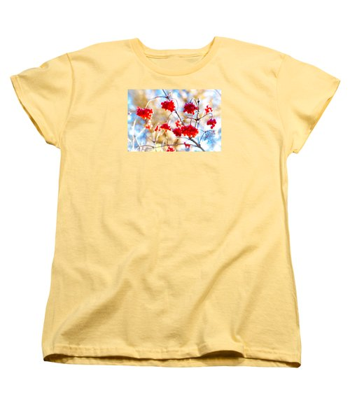 Women's T-Shirt (Standard Cut) featuring the photograph Arrowwood Berries by Alexander Senin