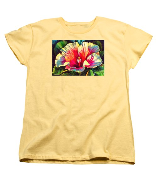 Art Floral Interior Design On Canvas Women's T-Shirt (Standard Cut) by Catherine Lott
