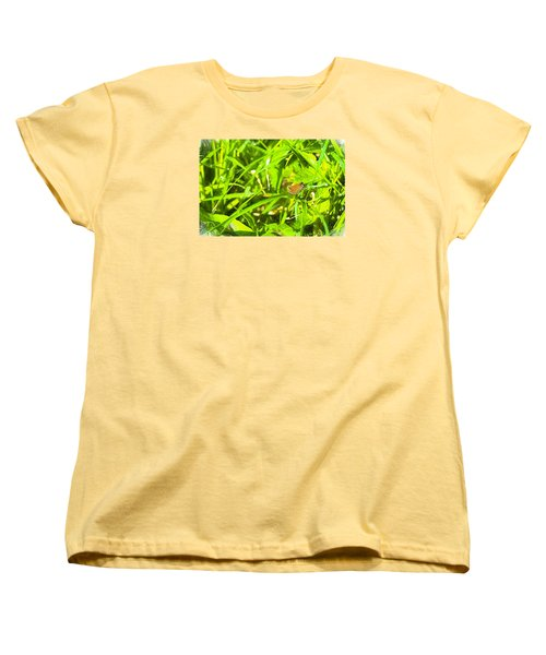 Women's T-Shirt (Standard Cut) featuring the photograph Artistic Essex Skipper  by Leif Sohlman