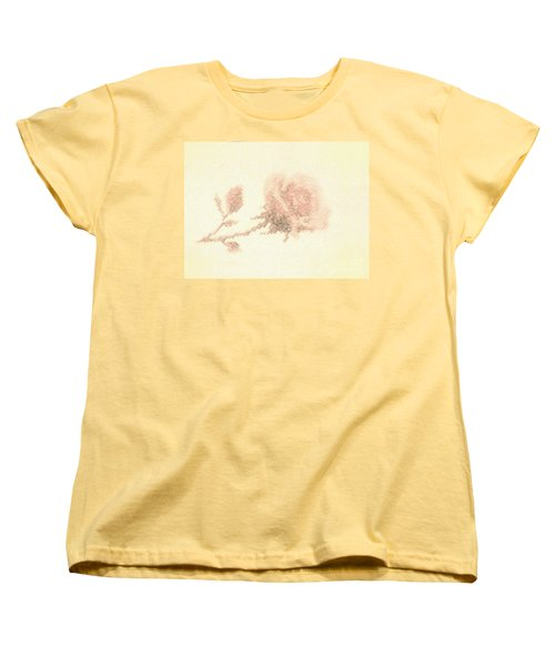 Women's T-Shirt (Standard Cut) featuring the photograph Artistic Etched Rose by Linda Phelps