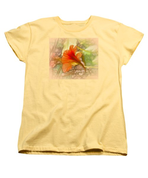 Artistic Red And Orange Women's T-Shirt (Standard Cut)