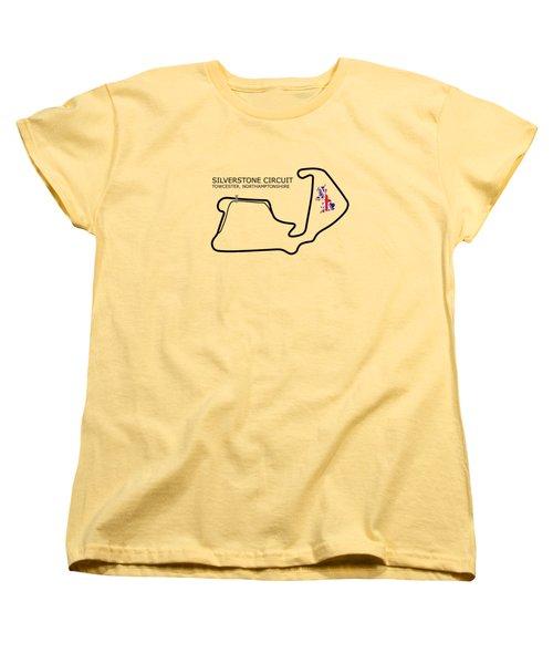 Silverstone Circuit Women's T-Shirt (Standard Cut) by Mark Rogan
