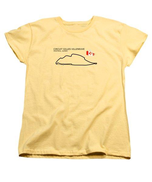 Circuit Gilles Villeneuve Women's T-Shirt (Standard Cut) by Mark Rogan