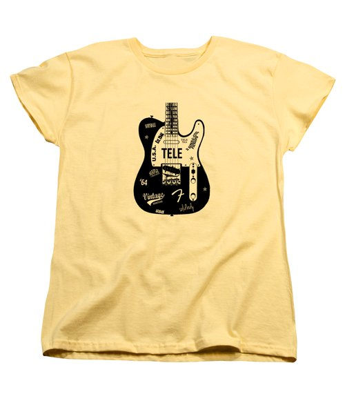 Fender Telecaster 64 Women's T-Shirt (Standard Cut) by Mark Rogan