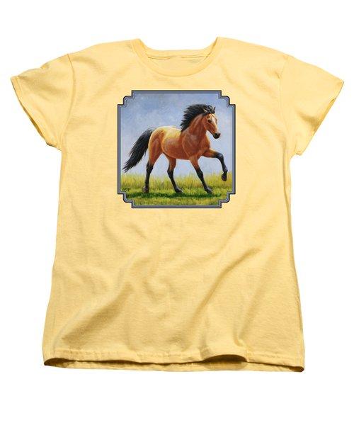 Buckskin Horse - Morning Run Women's T-Shirt (Standard Fit)