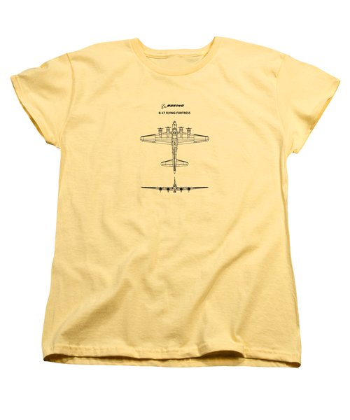B-17 Flying Fortress Women's T-Shirt (Standard Cut) by Mark Rogan