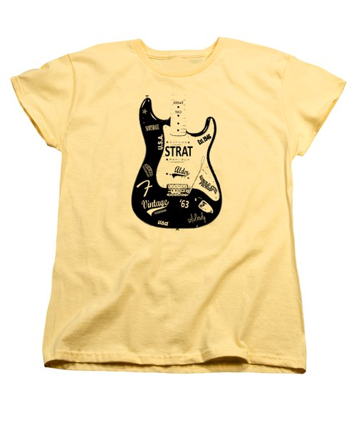 Fender Stratocaster 63 Women's T-Shirt (Standard Cut) by Mark Rogan