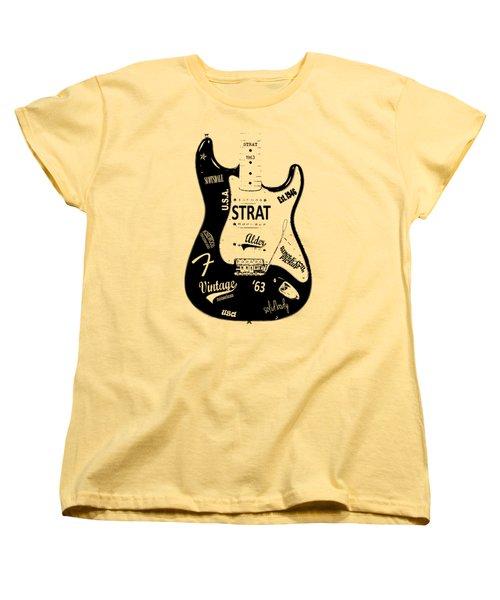 Fender Stratocaster 63 Women's T-Shirt (Standard Cut)