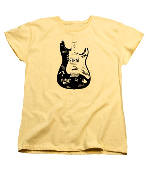 Fender Stratocaster 64 Women's T-Shirt (Standard Cut) by Mark Rogan