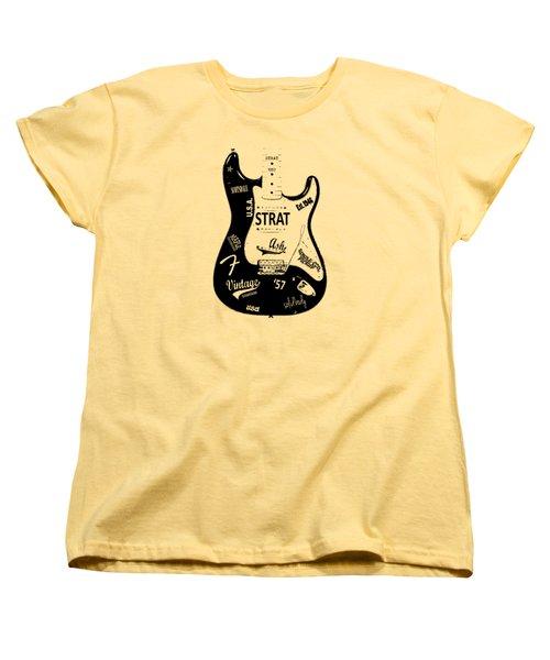 Fender Stratocaster 57 Women's T-Shirt (Standard Cut) by Mark Rogan