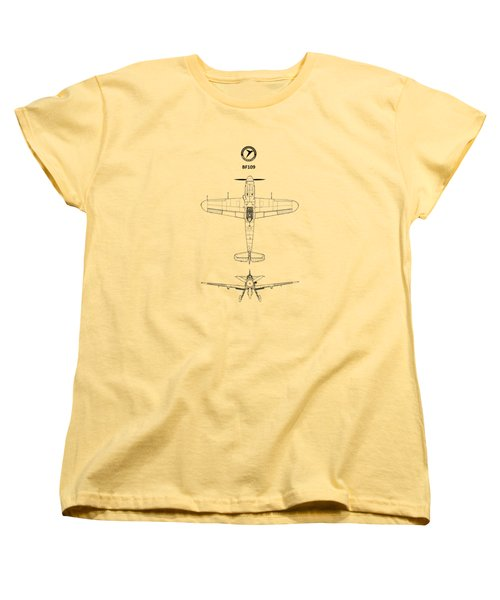 Messerschmitt Bf 109 Women's T-Shirt (Standard Cut) by Mark Rogan