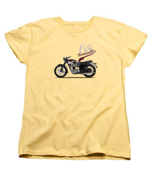 Triumph Bonneville T120 1968 Women's T-Shirt (Standard Cut) by Mark Rogan