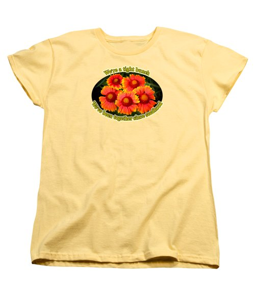 Bright Orange Gaillardia Women's T-Shirt (Standard Cut) by Richard Farrington