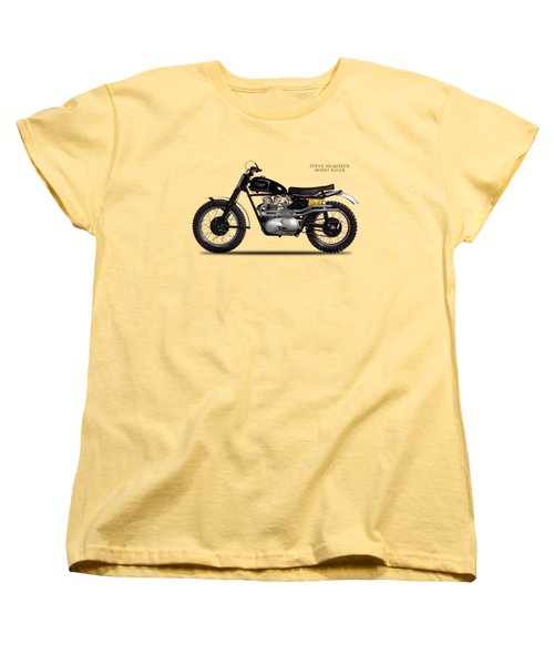 The Steve Mcqueen Desert Racer Women's T-Shirt (Standard Cut) by Mark Rogan