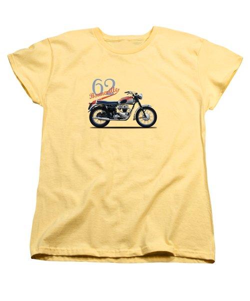 Bonneville T120 1962 Women's T-Shirt (Standard Cut) by Mark Rogan