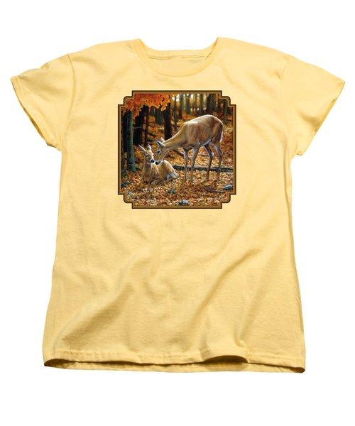 Whitetail Deer - Autumn Innocence 2 Women's T-Shirt (Standard Cut)