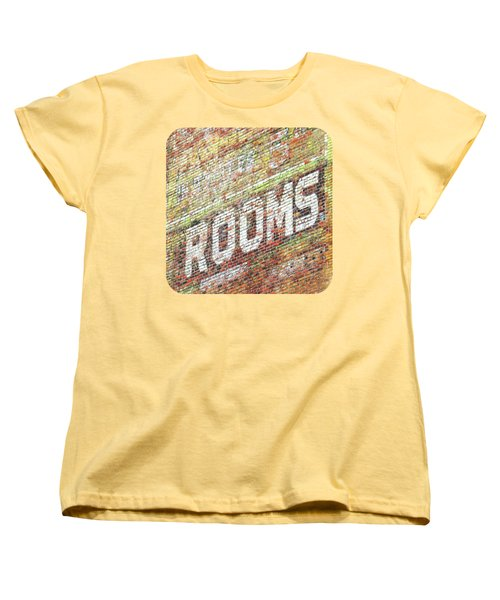 Women's T-Shirt (Standard Cut) featuring the photograph Rooms by Ethna Gillespie
