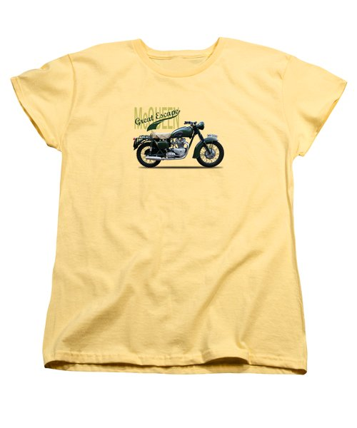 The Great Escape Motorcycle Women's T-Shirt (Standard Cut) by Mark Rogan