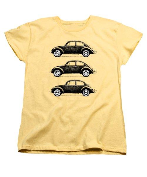 Think Small Women's T-Shirt (Standard Cut) by Mark Rogan