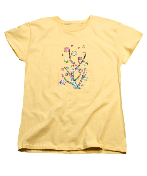 Rainbow Tree Women's T-Shirt (Standard Cut) by Anastasiya Malakhova