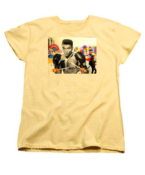 Asian Woman By Mohamed Ali In Brooklyn New York Women's T-Shirt (Standard Cut) by Funkpix Photo Hunter
