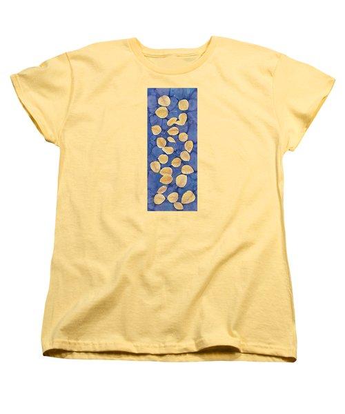Aspen Leaves On Water Women's T-Shirt (Standard Cut) by Carolyn Doe