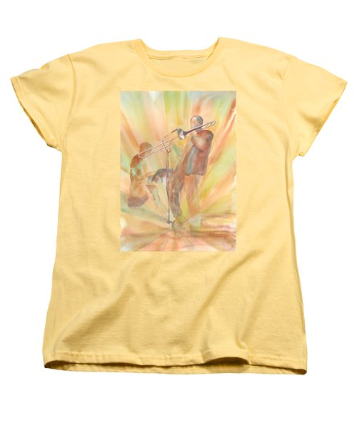 At One With The Music Women's T-Shirt (Standard Cut) by Debbie Lewis