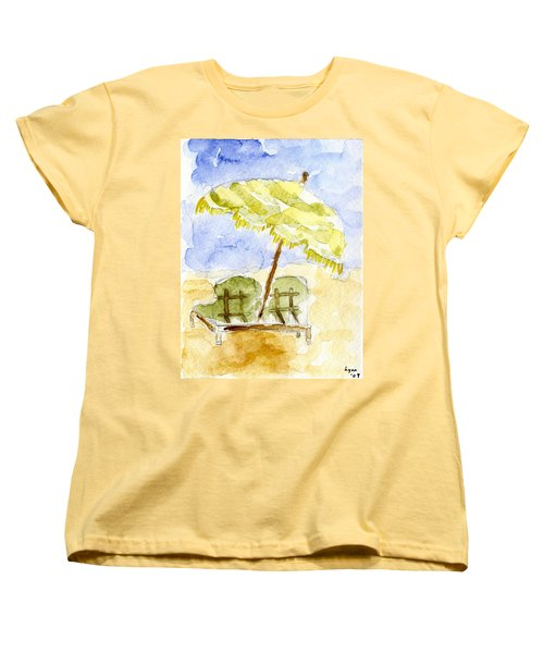 At The Beach Women's T-Shirt (Standard Cut) by Afinelyne