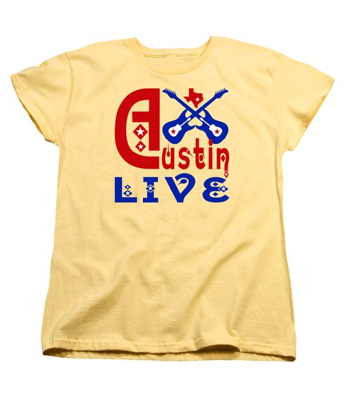 Austin Live Women's T-Shirt (Standard Cut) by David G Paul