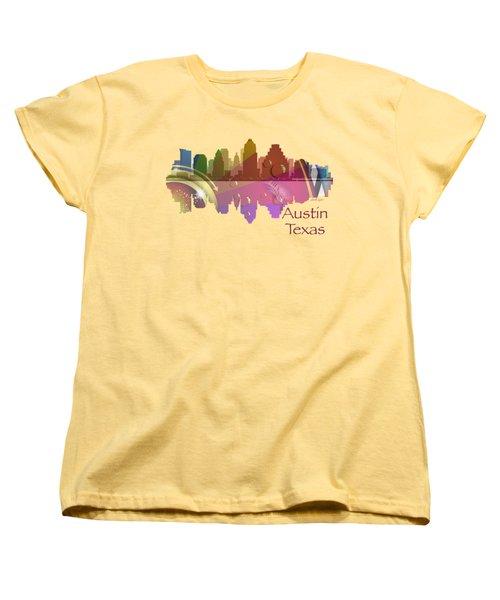 Austin Texas Skyline For Apparel Women's T-Shirt (Standard Cut) by Loretta Luglio