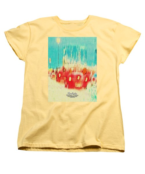 Women's T-Shirt (Standard Cut) featuring the photograph Austin Traffic by Barbara Tristan