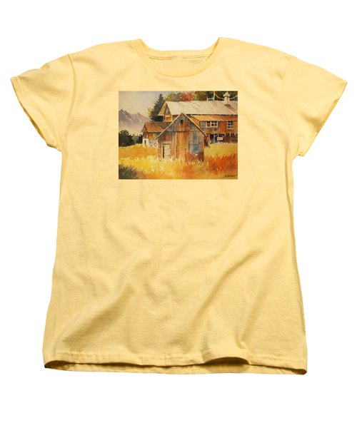 Autumn Barn And Sheds Women's T-Shirt (Standard Cut) by Al Brown
