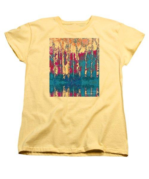Autumn Birches Women's T-Shirt (Standard Cut) by Holly Martinson
