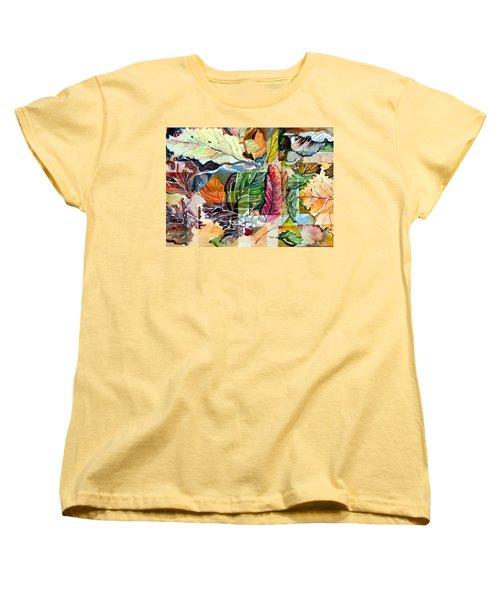 Autumn Falls Women's T-Shirt (Standard Cut) by Mindy Newman