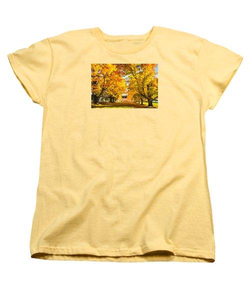 Women's T-Shirt (Standard Cut) featuring the photograph Autumn Gold IIi by Robert Clifford