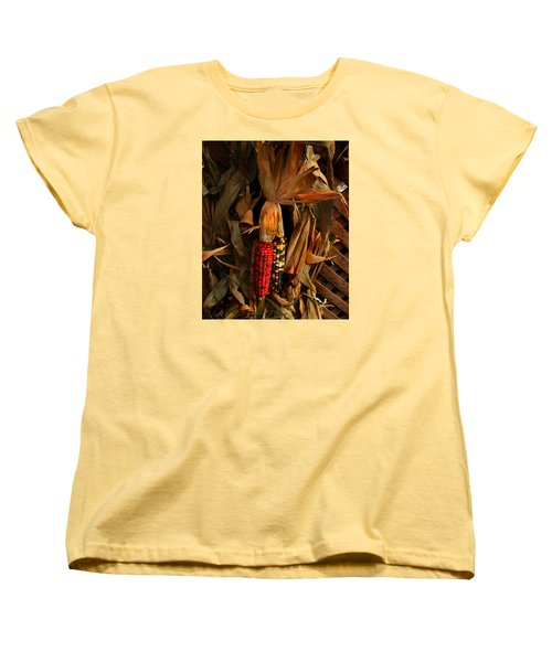 Women's T-Shirt (Standard Cut) featuring the photograph Autumn Harvest by Kathleen Stephens