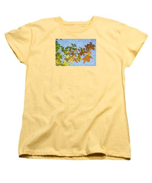 Women's T-Shirt (Standard Cut) featuring the photograph Autumn Leaves 2 by Jean Bernard Roussilhe