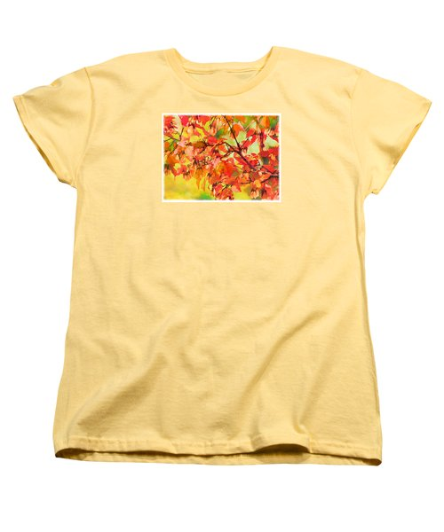 Autumn Leaves Women's T-Shirt (Standard Cut) by Christina Lihani
