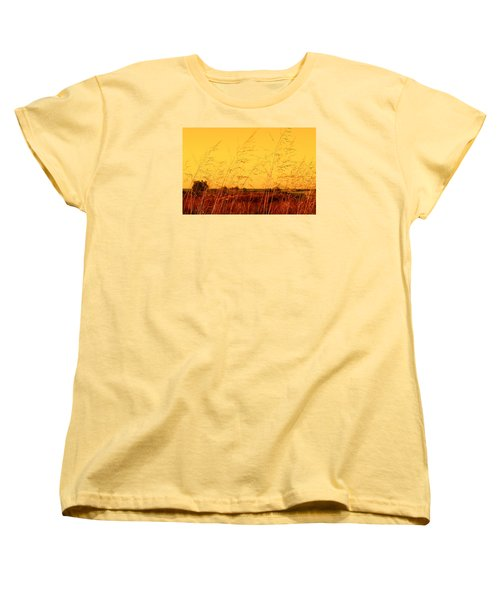 Women's T-Shirt (Standard Cut) featuring the photograph Autumn by Milena Ilieva