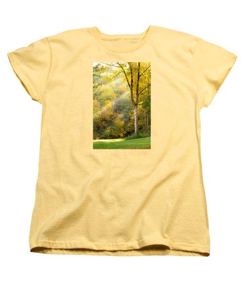 Autumn Morning Rays Women's T-Shirt (Standard Cut) by Brian Caldwell