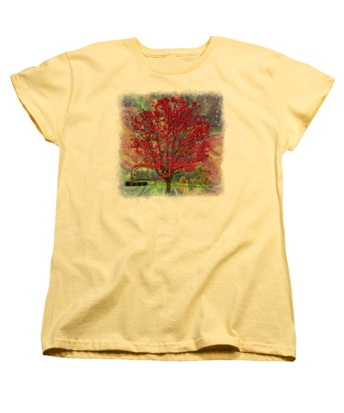 Autumn Scenic 2 Women's T-Shirt (Standard Cut) by John M Bailey