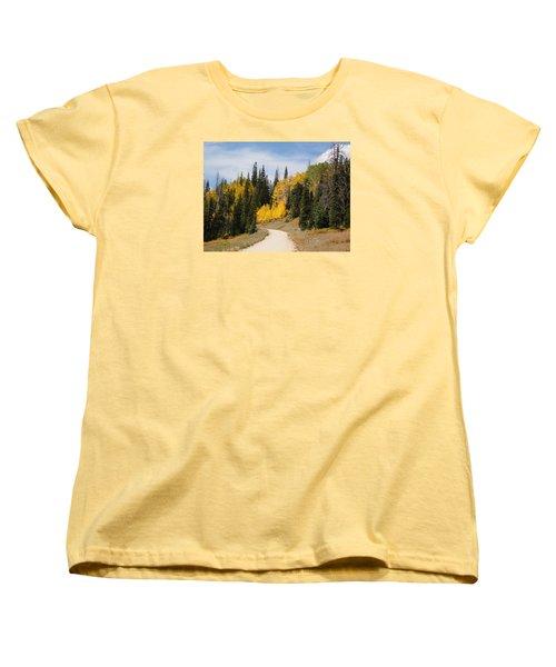 Women's T-Shirt (Standard Cut) featuring the photograph Autumnal Forest-dixie National Forest Utah by Deborah Moen