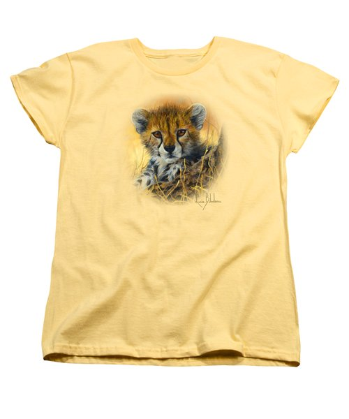 Baby Cheetah  Women's T-Shirt (Standard Cut) by Lucie Bilodeau