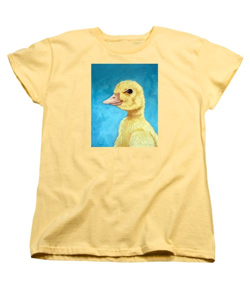 Baby Duck - Spring Duckling Women's T-Shirt (Standard Cut) by Linda Apple