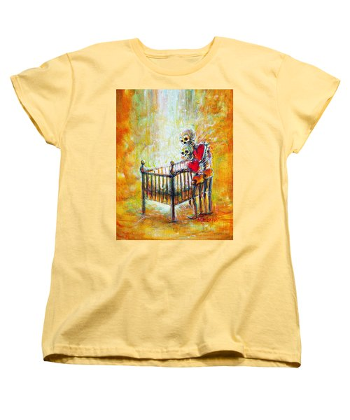 Women's T-Shirt (Standard Cut) featuring the painting Baby Love by Heather Calderon