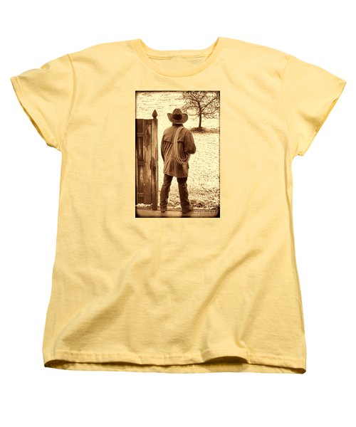 Back To Work Women's T-Shirt (Standard Cut) by American West Legend By Olivier Le Queinec
