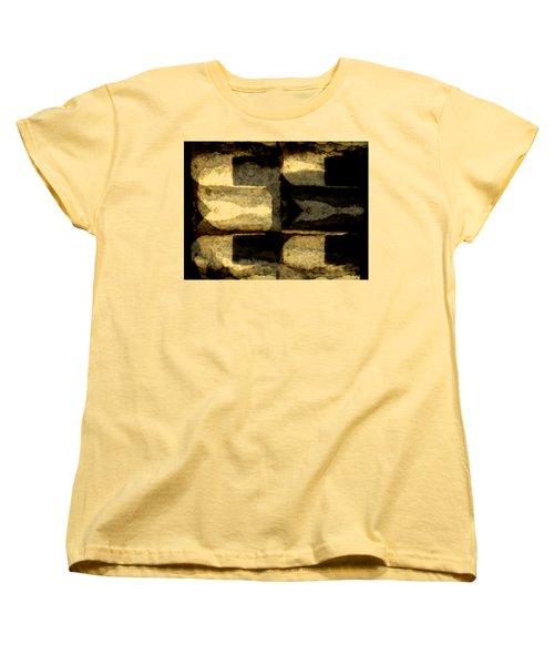 Colour Choice Stone Abstract Women's T-Shirt (Standard Cut) by Barbara Moignard