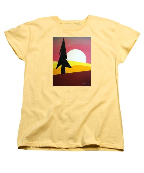 Women's T-Shirt (Standard Cut) featuring the painting Bad Moon Rising by J R Seymour