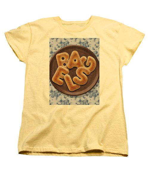Bagels Women's T-Shirt (Standard Cut) by La Reve Design